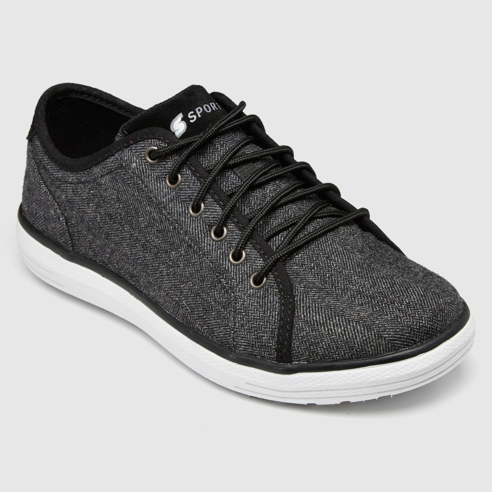 Men's S Sport By Skechers Armstrong Athletic Shoes - Charcoal 9.5, White Black