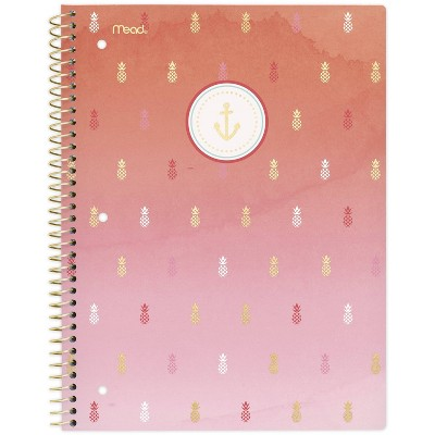 Spiral Notebook 1 Subject College Ruled Sail Away Pineapple - Mead