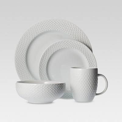 All Over Beaded Dinnerware Collection, White - Threshold™