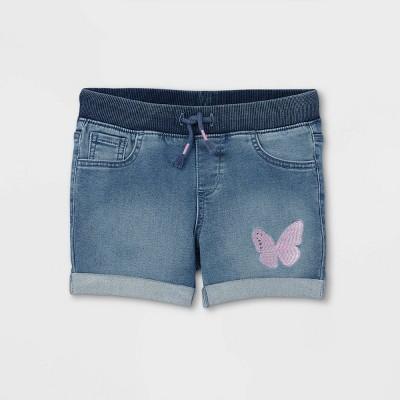 Girls' Butterfly Jean Shorts - Cat & Jack™ Medium Wash