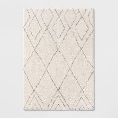 7'X10' Diamond Woven Area Rugs Cream - Project 62™