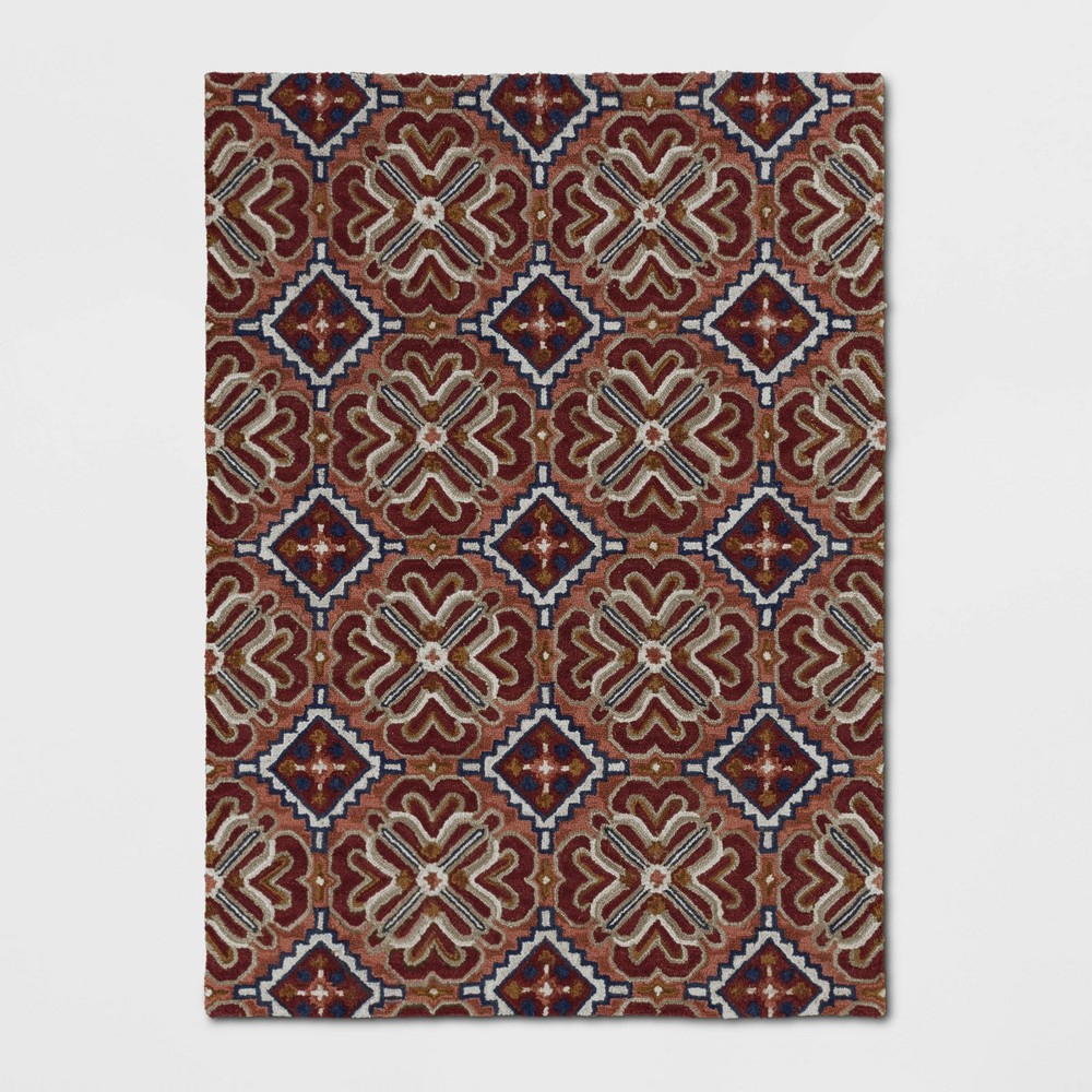 5'X7' Orosia Hand Tufted Rug Coral Red - Threshold was $199.99 now $99.99 (50.0% off)