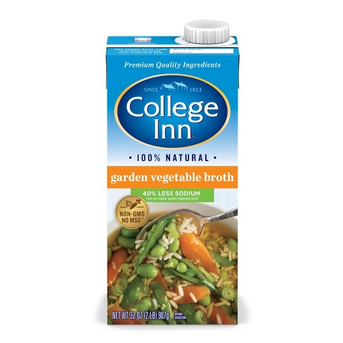 College Inn® Fat Free & Reduced Sodium Garden Vegetable Broth 32 oz - image 1 of 1