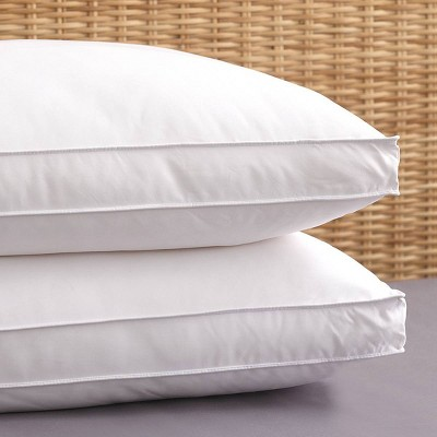 "King 2pk Allergen Barrier Bed Pillow with 2"" Gusset - PureShield"