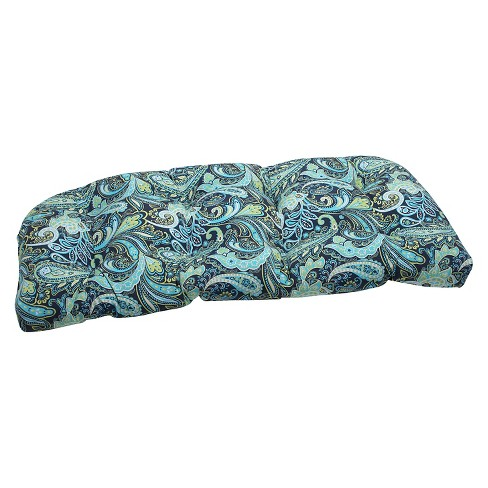Pillow Perfect Outdoor Seat Cushion - Blue/Green - image 1 of 1