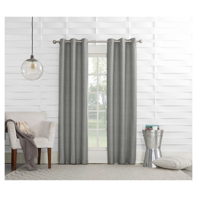 Haverhill Linen Texture Thermal Insulated Energy Efficient Grommet Curtain Panel Silver 40 x84 - Sun Zero