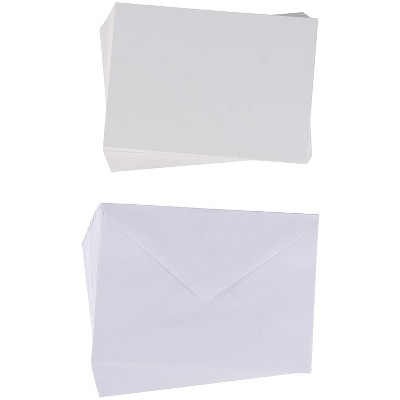 Sustainable Greetings 48-Pack White Blank Greeting Cards, DIY Plain Postcard Notecard for Thank You & Invitation, 5x7 in