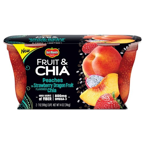 Delmonte Strawberry Dragonfruit Chia Peaches 14oz Target