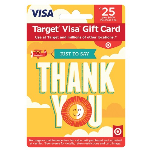 Visa Thank You Gift Card - $25 + $4 Fee - image 1 of 1