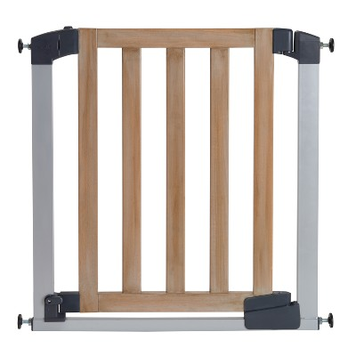 Munchkin® Auto Close Rustic Safety Gate Washed Wood - 29.5-40.6