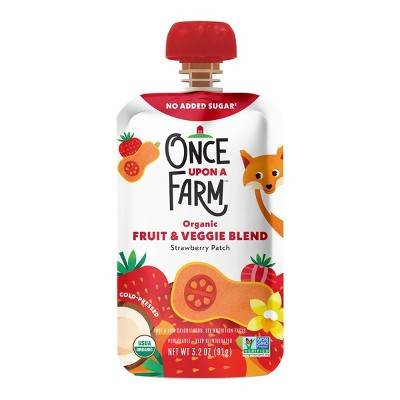 Once Upon a Farm Organic Strawberry Patch Fruit & Veggie Blend - 3.2oz