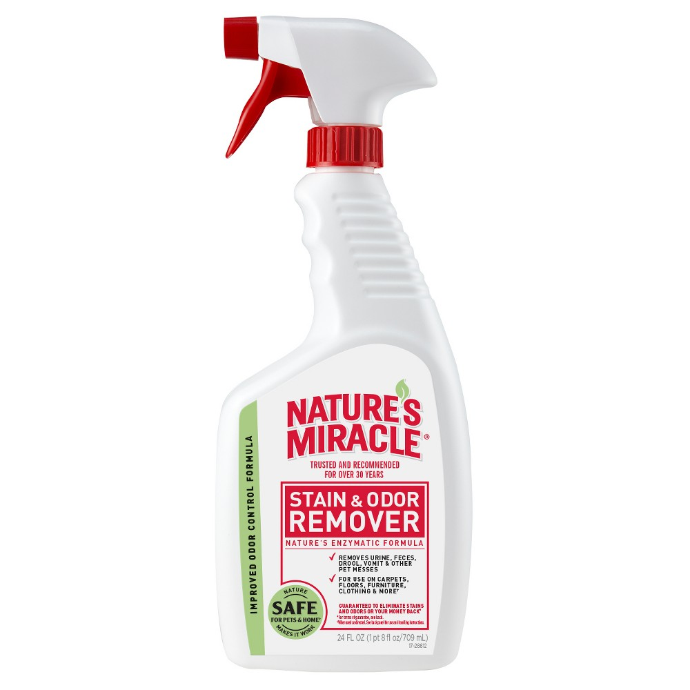 Nature's Miracle Spray Pet Stain and Odor Remover Enzymatic Formula 24 Oz