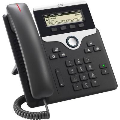 Cisco 7811 IP Phone - Wall Mountable - Charcoal - 1 x Total Line - VoIP - Caller ID - Speakerphone - 2 x Network (RJ-45) - PoE Ports - Monochrome
