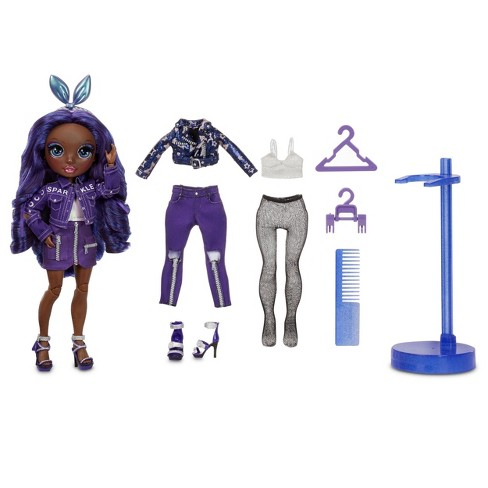 Rainbow HighKrystal Bailey – IndigoFashion Dollwith 2 Complete Mix & Match Outfits andDoll Accessories - image 1 of 4