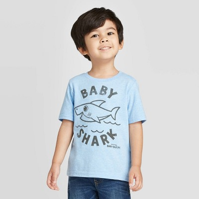 Toddler Boys' Baby Shark T-Shirt - Blue