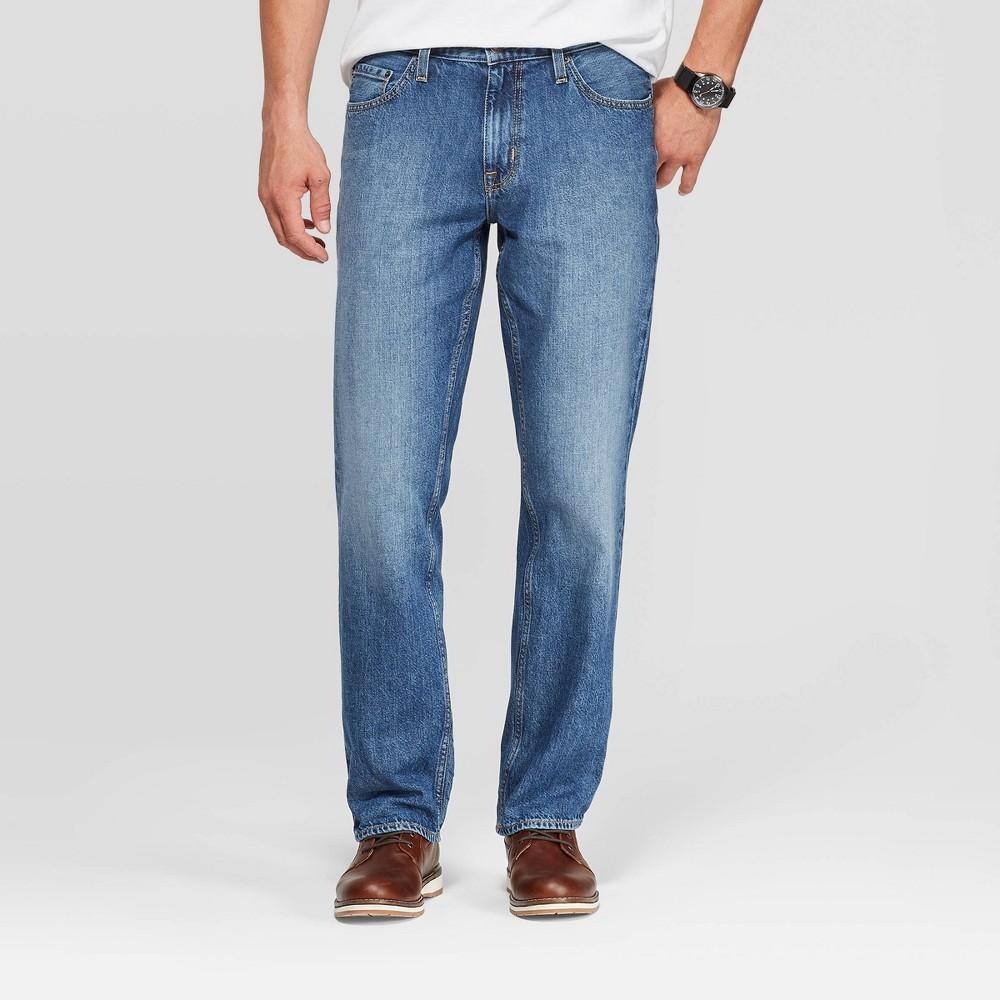 Men 39 S Straight Fit Jeans Goodfellow 38 Co 8482 Medium Denim Wash 34x30