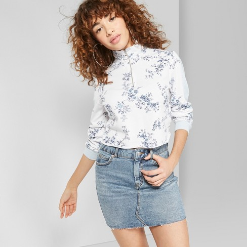Women's 5 Pocket Denim Mini Skirt - Wild Fable™ Medium Blue Wash - image 1 of 3