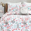5pc Full/Queen Hygge Sloth Bedding Set with Sloth Throw Pillow White - Lush Dcor - image 3 of 3