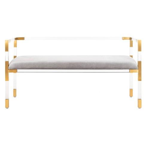 Anastasia Acrylic Bench Brass Safavieh Target