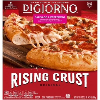 DiGiorno Rising Crust Sausage & Pepperoni Frozen Pizza - 30.3oz