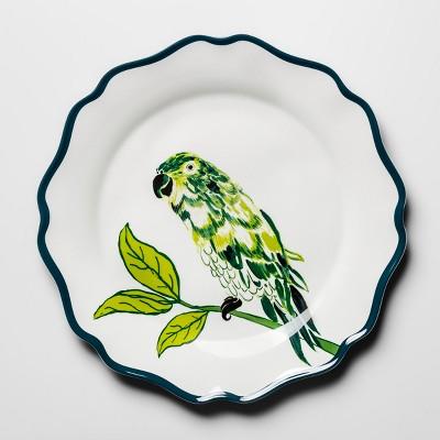 Melamine Dinner Plate 10.5  Blue/Green Parrot - Opalhouse™