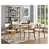 "60"" Retro Modern Wood Kitchen Dining Table - Saracina Home - image 4 of 4"