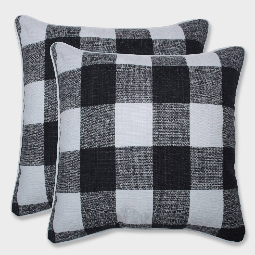 "Image of ""16.5"""" 2pk Anderson Throw Pillows Black - Pillow Perfect"""