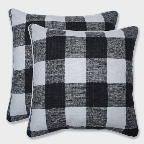 """16.5"""" 2pk Anderson Throw Pillows Black - Pillow Perfect - image 1 of 1"""