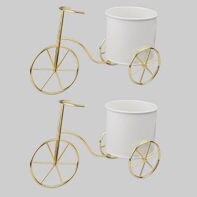 2pk Bike Planters White - Bullseye's Playground™