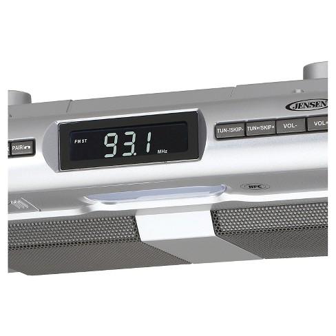 jensen® under cabinet universal bluetooth music system - silver (smps-628 )