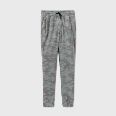 Boys' Camo Print Knit Jogger Pants - art class™ Green/Gray