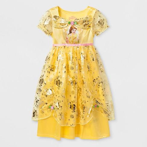 4ff415e797 Toddler Girls  Disney Princess Belle Nightgown - Yellow   Target