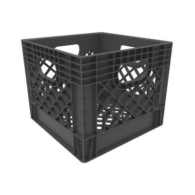 Rehrig Pacific Company 16qt Industrial Milk Crate Gray