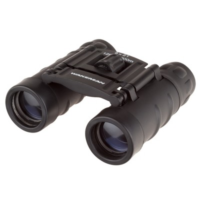 Wakeman 8X21 Binoculars Pocket Sized Folding Adjustable Focus For Sport And Field - Black
