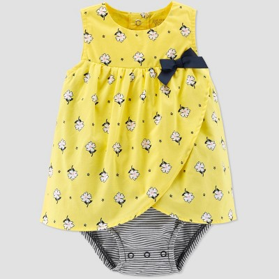 Baby Girls' Floral Sunsuit - Just One You® made by carter's Yellow 3M