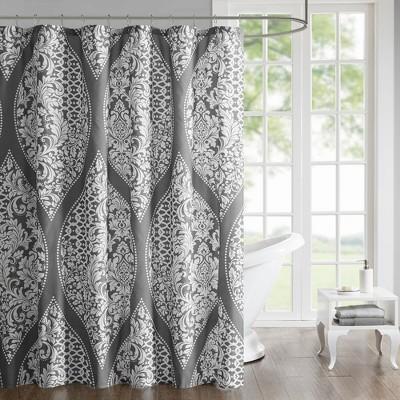 Reina Printed Shower Curtain Shower Curtain Gray