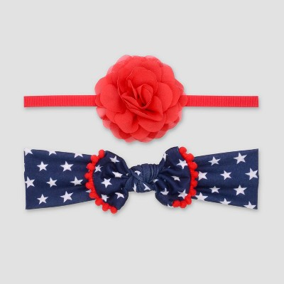 Baby Girls' 2pk Bow Headwrap - Just One You® made by carter's Red