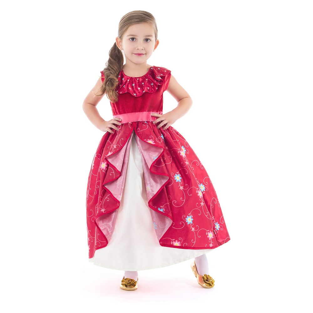 Little Adventures Child's Spanish Princess Dress - L, Girl's, Red