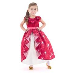 Little Adventures Girls' Princess Dress - Red XL