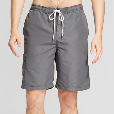 Men's Board Shorts With Side Pocket 9  - Goodfellow & Co™ Gray L