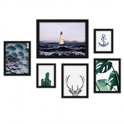 Americanflat Contemporary Mixed Art 6 Piece Gallery Wall Set by NUADA
