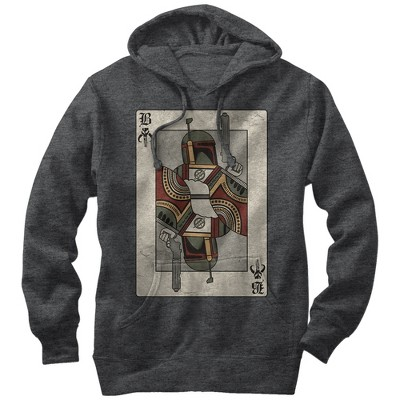 Men's Star Wars Boba Fett Playing Card Pull Over Hoodie