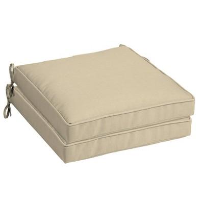2pk Leala Texture Single Welt Outdoor Seat Cushions - Arden Selections