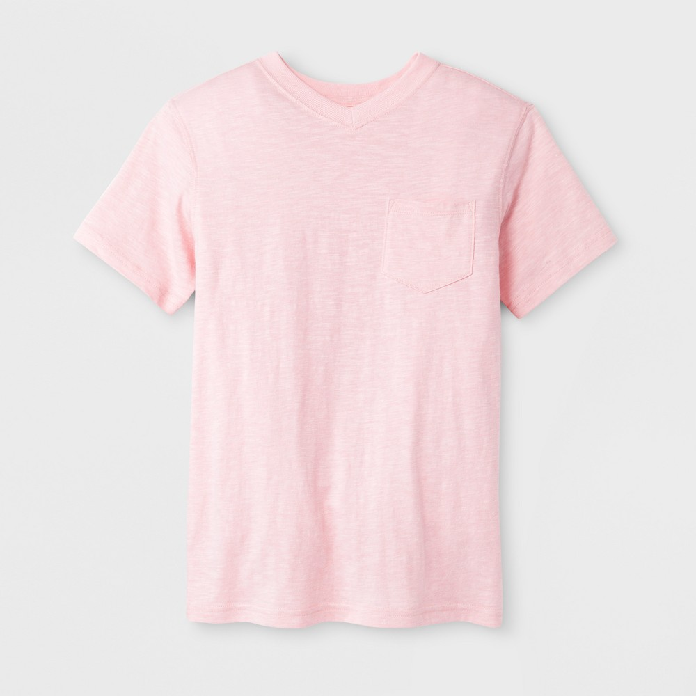Boys' Short Sleeve T-Shirt - Cat & Jack Pink Xxl