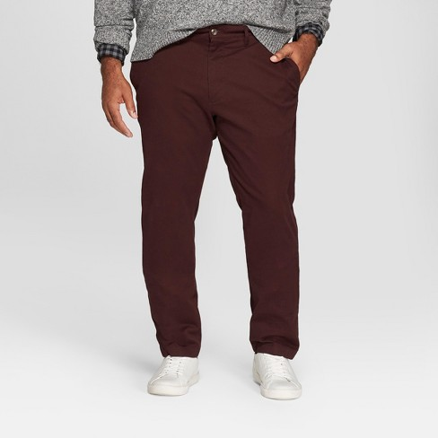 Men's Tall Slim Fit Hennepin Chino - Goodfellow & Co™ Deep Purple - image 1 of 3