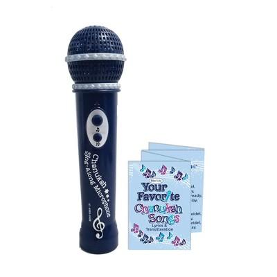 "Rite Lite 7.5"" Hanukkah Musical with 5 Chanukah Songs Microphone - Black"