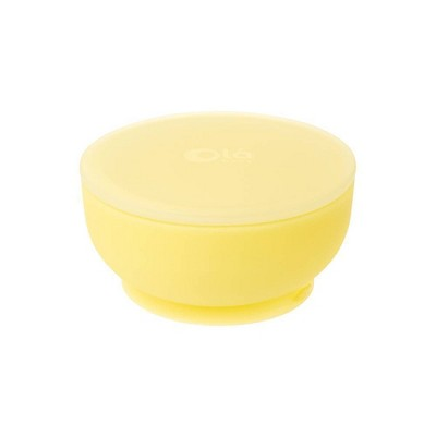 Olababy Suction Bowl with Lid - Lemon