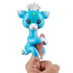 Fingerlings Baby Giraffe - Lil' G (Blue) - Friendly Interactive Toy by WowWee