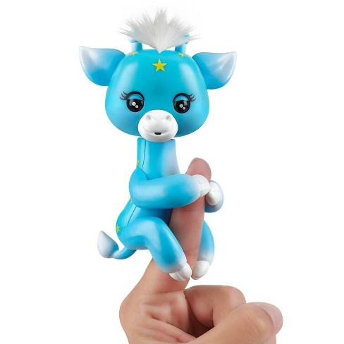 Fingerlings Baby Giraffe - Lil' G (Blue) - Friendly Interactive Toy by WowWee - image 1 of 4