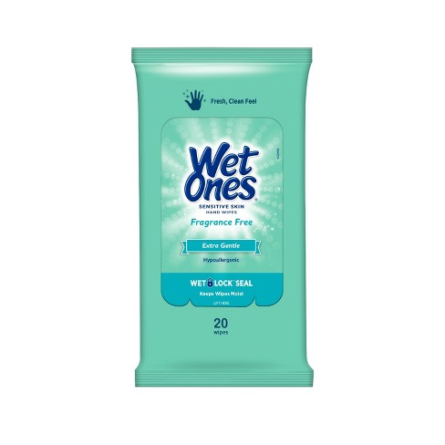 Wet Ones Sensitive Skin Hand Wipes Travel Pack - Fragrance Free - 20ct - image 1 of 3